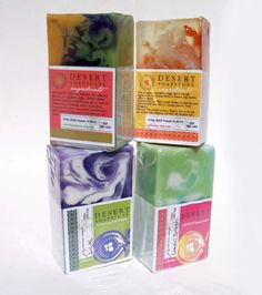 handcrafted glycerin soap bars made by desertsoapstone