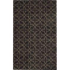 Capel Rugs Albemarle Gate Grey Wool Rug CA3389375