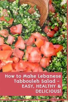 Traditional Lebanese Tabbouli is light, fresh and bursting with flavor. This recipe uses just a handful of ingredients. One bite and you will understand why this classic dish is a favorite throughout the Mediterranean! #tabouli #salad #plantbased Creamy Mushroom Soup, Creamy Mushrooms, Easy Family Meals, Easy Meals, Lebanese Tabbouleh, Bulgar Wheat, Pasta Puttanesca, Lemon Salt, Chocolate Lava Cake