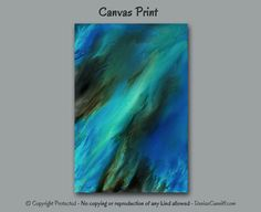 Colors in this 3 pc abstract wall art include teal, aqua, turquoise, blue, green, and brown. Artist - Denise Cunniff - ArtFromDenise.com. View more info at https://www.etsy.com/listing/459748146