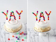 DIY Pom Pom Cake Topper - Momtastic