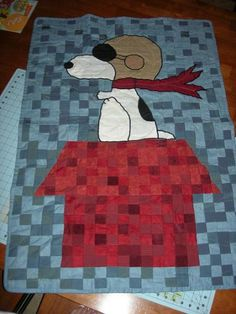 Snoopy Flying Ace Quilt | Flickr