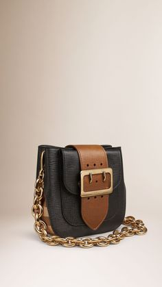 The Small Belt Bag – Square in Leather and House Check Black | Burberry