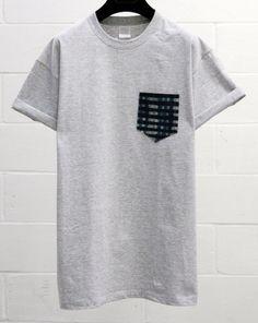 Men's Two Tone Geometric Pattern Grey Pocket by HeartLabelTees