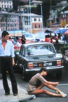 Slim Aarons: Portofino marina, Italy, 1977 THIS LOOKS LIKE MY CAR