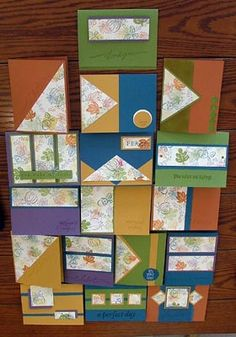 Fall One Sheet Wonder - All cards by skpupy68 - Cards and Paper Crafts at Splitcoaststampers