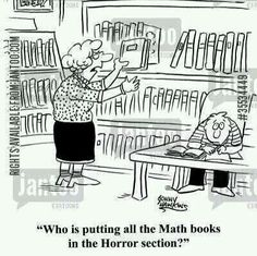 (and math humor. and librarian humor. Math Cartoons, Math Comics, Funny Cartoons, Cartoon Humor, Math Memes, Math Humor, Science Humor, Math Puns, Chemistry Jokes