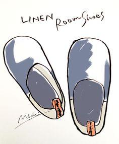 Linen Roomshoes 履き心地の良いリネンルームシューズ