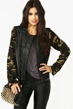 Enlisted Moto Jacket     $78.00