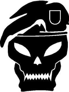 Call of Duty skull silhouette/stencil