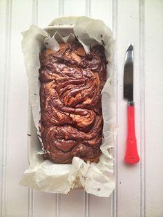 Paleo Chocolate Swirl Pumpkin Bread. (Gluten/Grain/Dairy Free) - Brittany Angell