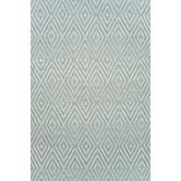 Found it at Wayfair - Woven Diamond Light Blue/Ivory Rug