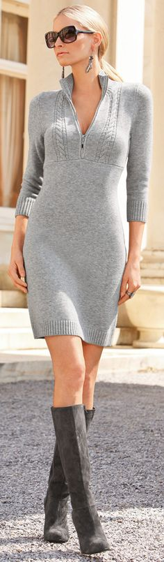 sweater dress ♪ ♪ ... #inspiration #crochet #knit #diy GB http://www.pinterest.com/gigibrazil/boards/