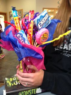 A candy & gum bouquet to celebrate braces removal!