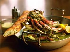 Oven-Roasted Crab Buon Natale recipe -- Cat Cora, first female Iron Chef & godmother of the Oceania Riviera cruise ship.