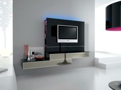 Italian Plasma TV Wall TV Unit,  DVD Storage, White or Black