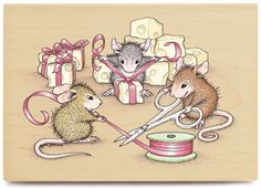 Image detail for -House Mouse Christmas Rubber Stamps