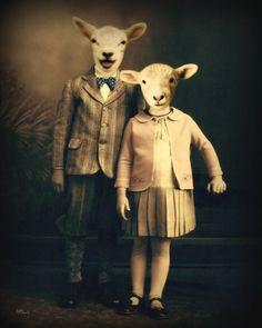Lamb Art. So weird and I kinda love it.