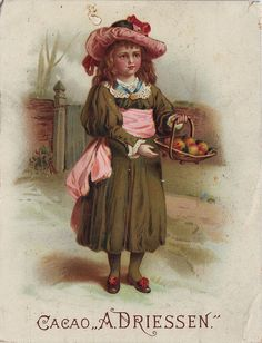 CACAO DRIESSEN GIRL WITH BASKET OF APPLES   Flickr - Photo Sharing!