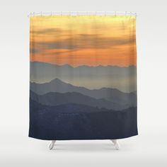 MBR art - Mountains. Foggy sunset Shower Curtain by Guido Montañés - $68.00