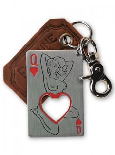 """Queen of Hearts"" Bottle Opener & Key Ring by Trixie & Milo #inked #inkedshop #inkedmagazine #bottleopener #queenofhearts"