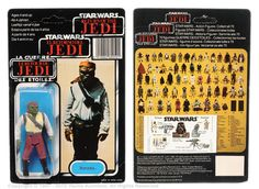 "Palitoy/General Mills Star Wars Return of the Jedi Tri-logo Barada 3 ¾"" vintage figure, Mint, within Good Plus bubble, upon Good Plus to Excellent 70D un-punched card back (plus mini tear-away ""Primes/Premies"" catalogue affixed to rear of card). Estimate: £80 - £100"