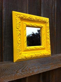 Bright Yellow Mirror. $17.00, via Etsy.