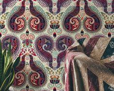 ACHEI na loja QCOLA - Papel de Parede Floral paisley #papeldeparede