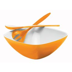 Guzzini Vintage Salad Set in Orange