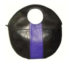 Recycled inner tube bag. via Etsy.