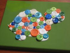 Crafty little people: Mosaic buttons