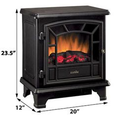Duraflame Freestanding Electric Stove with Remote Control - Electric Fireplace Reviews, Best Electric Fireplace, Electric Fireplace Heater, Electric Fireplaces, Electric Fires, Electric Stove, Duraflame Electric Fireplace, Glass Screen Door, Portable Fireplace