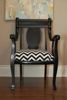 Chevron seat cover--- love this chair