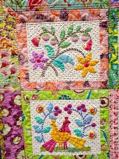 Quilts from the Sydney Craft and Quilt Fair 2012  This is stunning with the choice of fabrics and colors.