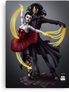 Creepypasta - The Puppeteer and Emra Canvas Print