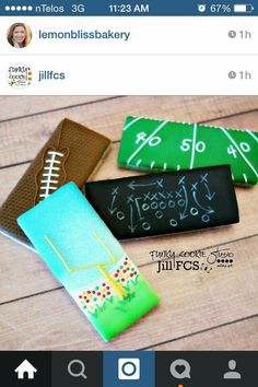 Jill FCS: football theme cookie dunkers