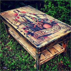 Coffee table with a shelf., - why not visit our site for more inspirational tattoo ideas? Coffee table with a shelf., - why not visit our site for more inspirational tattoo ideas? Refurbished Furniture, Recycled Furniture, Painted Furniture, Diy Furniture, Vintage Home Decor, Diy Home Decor, Rustic Decor, Wooden Coffee Table Designs, Tattoo Studio Interior