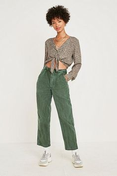 Shop Urban Renewal Vintage Swedish Work Trousers at Urban Outfitters today. Indie Fashion, Love Fashion, Womens Fashion, Fashion Design, Fashion Trends, Retro Fashion 80s, Vintage Fashion, Work Trousers, Trousers Women