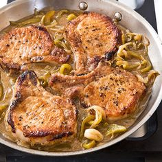Cook's Country ~ Braised Pork Chops with Vinegar Peppers