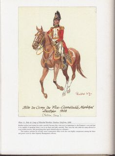 Command and staff: Plate 11: Aide-de-Camp of Marshal Berthier, Undress Uniform, 1808.