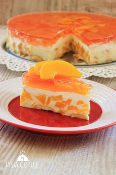 Brzoskwiniowiec na zimno Kobieceinspiracje.pl Polish Recipes, Polish Food, Frozen Desserts, Flan, Cheesecakes, Cake Cookies, Cake Recipes, Chicken Recipes, Sweet Tooth