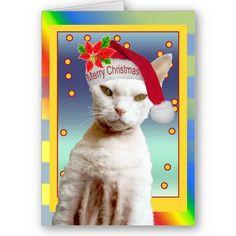 Card | Rex Cat Santa Meow Christmas