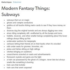 fantasy subways humans in space