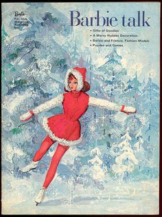 Vintage Mattel Barbie Talk winter - vintage Barbie magazine.