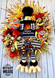 Halloween Magic, Halloween Spider, Thanksgiving Wreaths, Fall Wreaths, Copper Spray, Turkey Wreath, Fall Mums, Fall Deco Mesh, Creative Box