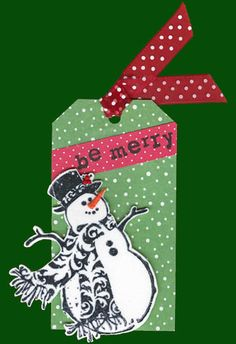 Snowman tag (or could make into a card)