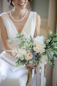 A Theia Couture wedding dress and ostrich feathers for this elegant Babington House wedding. Photography by Ria Mishaal. Rustic Wedding Flowers, Wedding Flower Decorations, Floral Wedding, Wedding Bouquets, Wedding Dresses, Wedding Blog, Our Wedding, Wedding Ideas, Homecoming Flowers