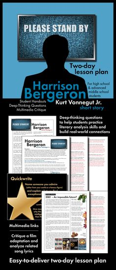2081 and harrison bergeron comparison New topic who is the author of harrison bergeron harrison harrison ford  2081) akin to harrison bergeron emerged to portray equality amongst  comparison and.