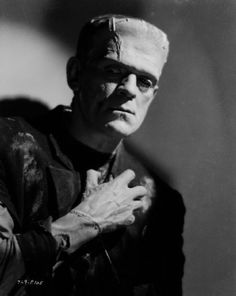 Another giant, eight feet tall and definitely a monster, is the creature made by Victor Frankenstein in Mary Shelley's 1818 novel. Boris Karloff, Universal Studios Monsters, Movie Monsters, Classic Monsters, Frankenstein Pictures, Movies, Victor Frankenstein, Bride Of Frankenstein