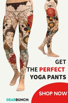 We created these hand made unique Lotus Leggings for women. It is super soft and comfortable, perfect for doing exercise or yoga. Made of polyester and spandex, it can be worn on any occasion. Custom Leggings, Best Leggings, Printed Leggings, Women's Leggings, Best Workout Apps, Exercise Apps, Workout Gear, Workout Pants, Gym Workouts